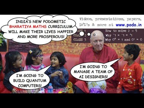 Namaskar Dr Ramesh Pokhriyal & Dr Vinay Sahasrabuddhe. Bharatiya Maths lets India's kids love maths.