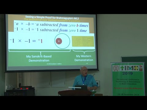 Jonathan J Crabtree on Bharatiya Maths @ IISER Indian Institute of Science Education & Research Pune