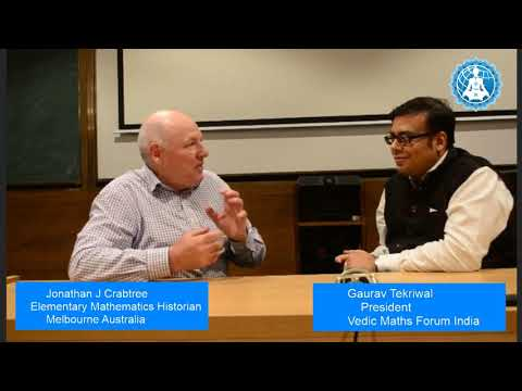 Indian Maths Guide Jonathan J Crabtree Interviewed by Gaurav Tekriwal President at Vedic Maths Forum