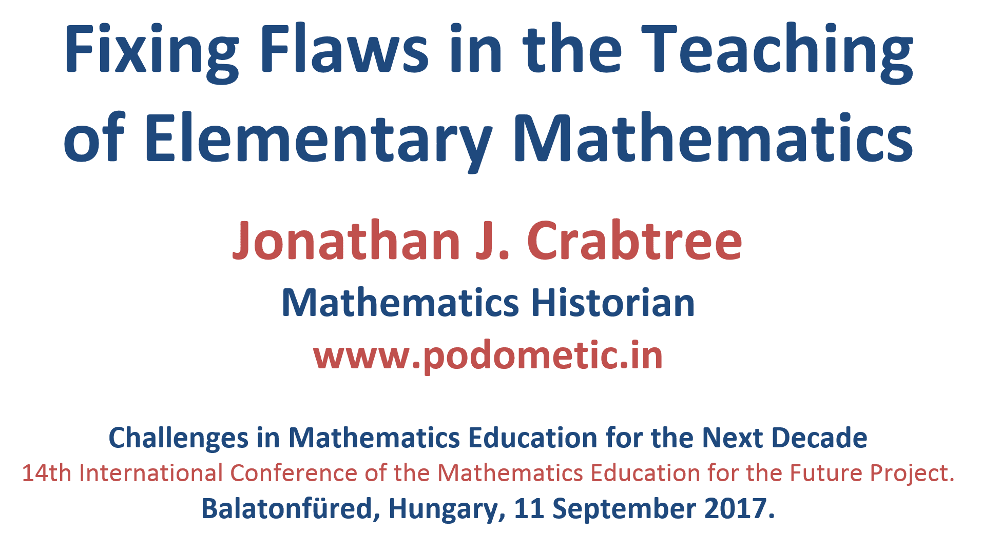 Fixing Flaws in the Teaching of Elementary Mathematics