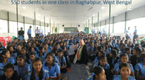 550 students 1 class in Raghabpur