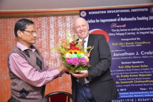 With Prof. Dr. J. P. Bandyopadhyay at Kingston Education Institute